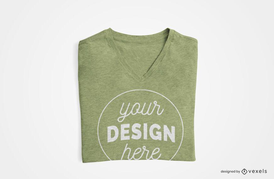 Design de camiseta dobrada