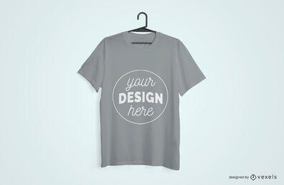 Diseño de maqueta colgada de camiseta