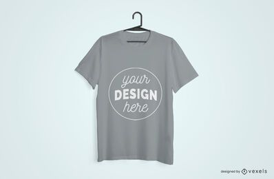 T-shirt hanged mockup design