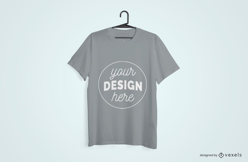 Design de maquete enforcado t-shirt