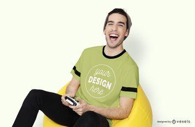 Maquete de camiseta do jogador jogador