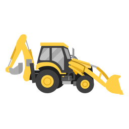 Backhoe loader illustration