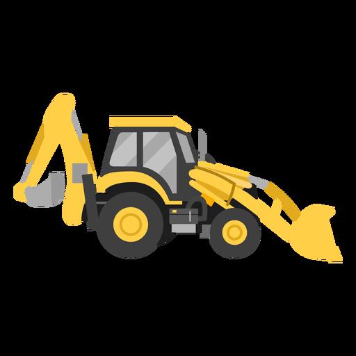 Backhoe loader illustration