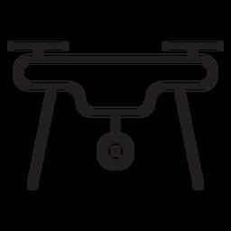 Icono de trazo de cámara drone