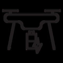 Icono de trazo de drone de carga