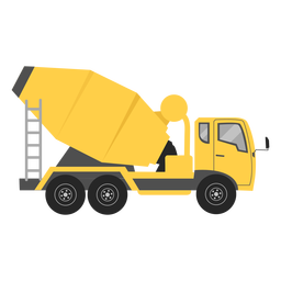 Concrete mixer illustration