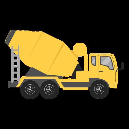 Concrete mixer illustration