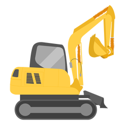 Construction excavator illustration