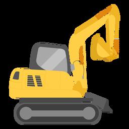 Ilustración de excavadora de construcción