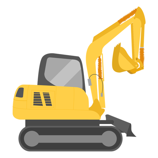 Construction excavator illustration