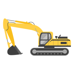 Crawler excavator illustration