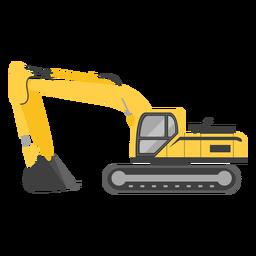 Ilustración de excavadora de orugas