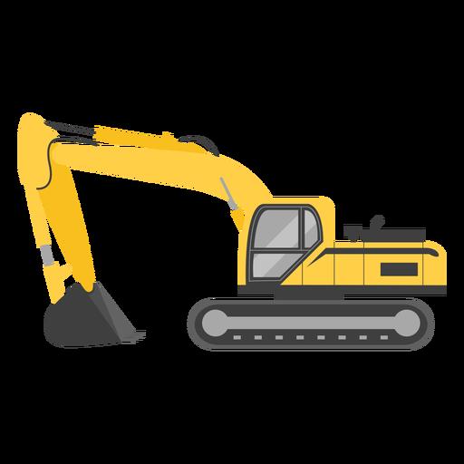 Ilustração de escavadeira sobre esteiras