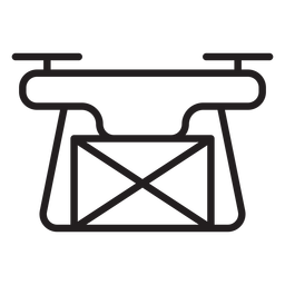 Delivery drone stroke icon