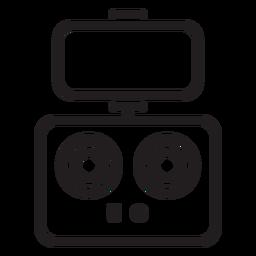 Ícone de traçado de controle de telefone drone