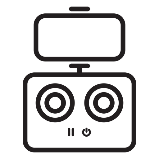 Drone phone control stroke icon Transparent PNG