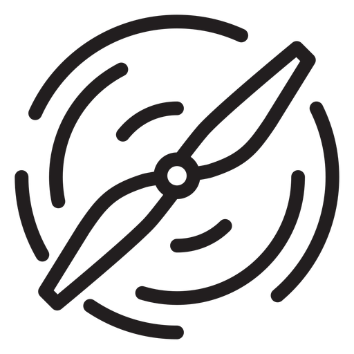 Drone propeller stroke icon