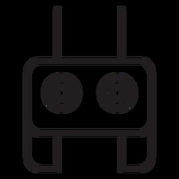 Ícone de traçado de controle remoto do zangão