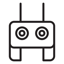 Icono de trazo de control remoto de drones