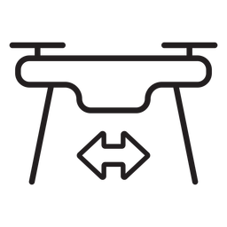 Flying drone stroke icon