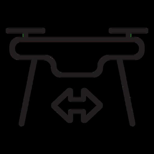 Icono de trazo de drone volador