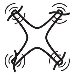 Flying quadcopter drone stroke icon