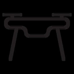 Icono de trazo de drone de vista frontal