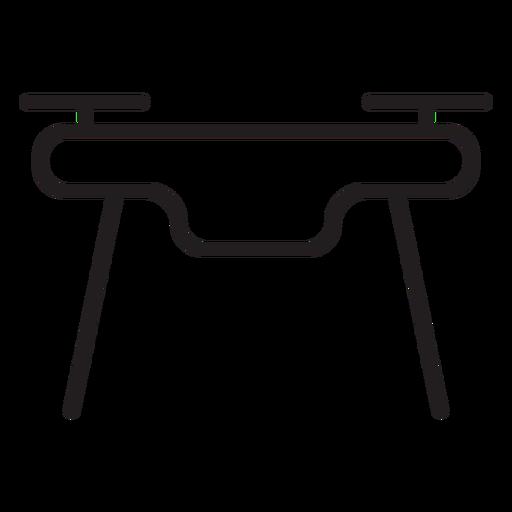 Front view drone stroke icon