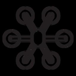Icono de trazo de dron Hexacopter