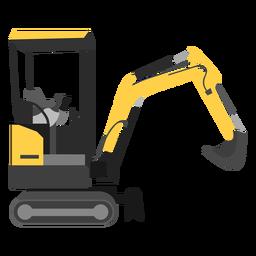 Mini excavadora ilustración
