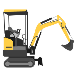 Mini excavator illustration