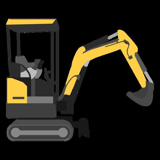 Mini excavator illustration