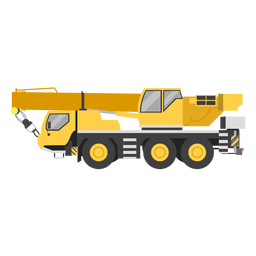 Mobile crane illustration