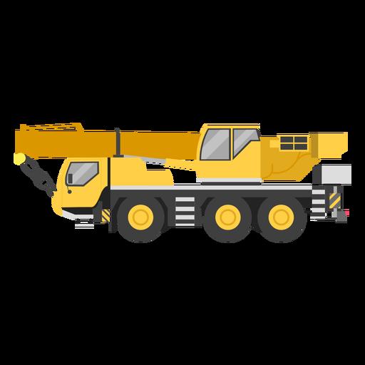 Mobile crane illustration Transparent PNG