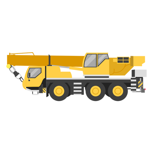 Mobile crane illustration