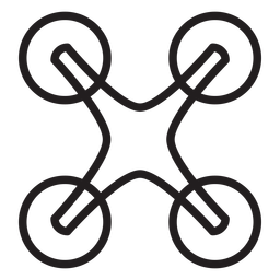 Quadcopter drone stroke icon