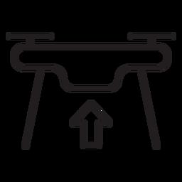 Despegando el icono de trazo de drone