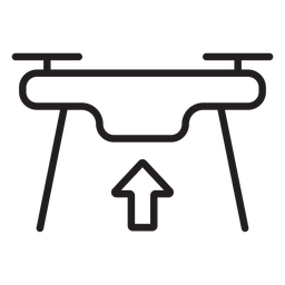 Taking off drone stroke icon
