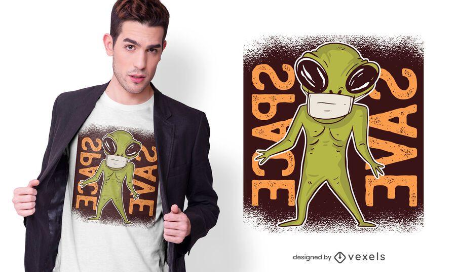 Diseño de camiseta alienígena Facemask
