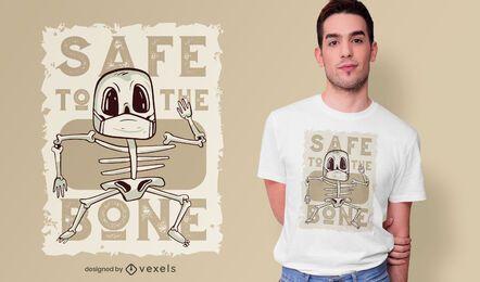 Seguro para o design de camisetas com ossos