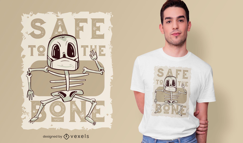 Design de t-shirt seguro até ao osso