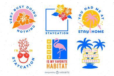 Conjunto de emblema Staycation