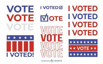 Eu votei em conjunto de ilustração