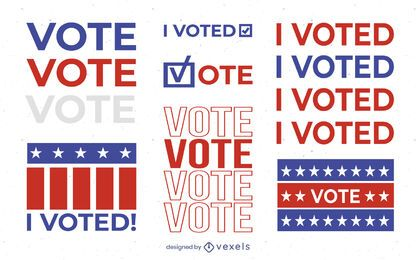 I voted illustration set