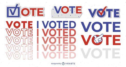 Voté conjunto de ilustraciones