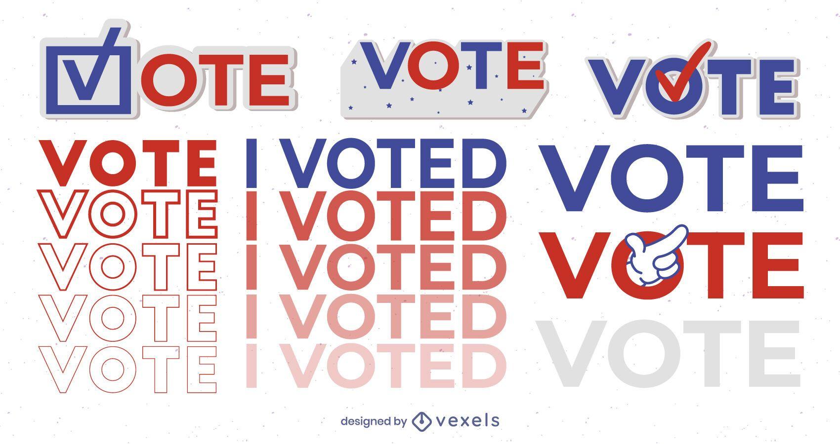 Votei no conjunto de ilustração