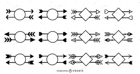 Conjunto de diseño de flecha geométrica
