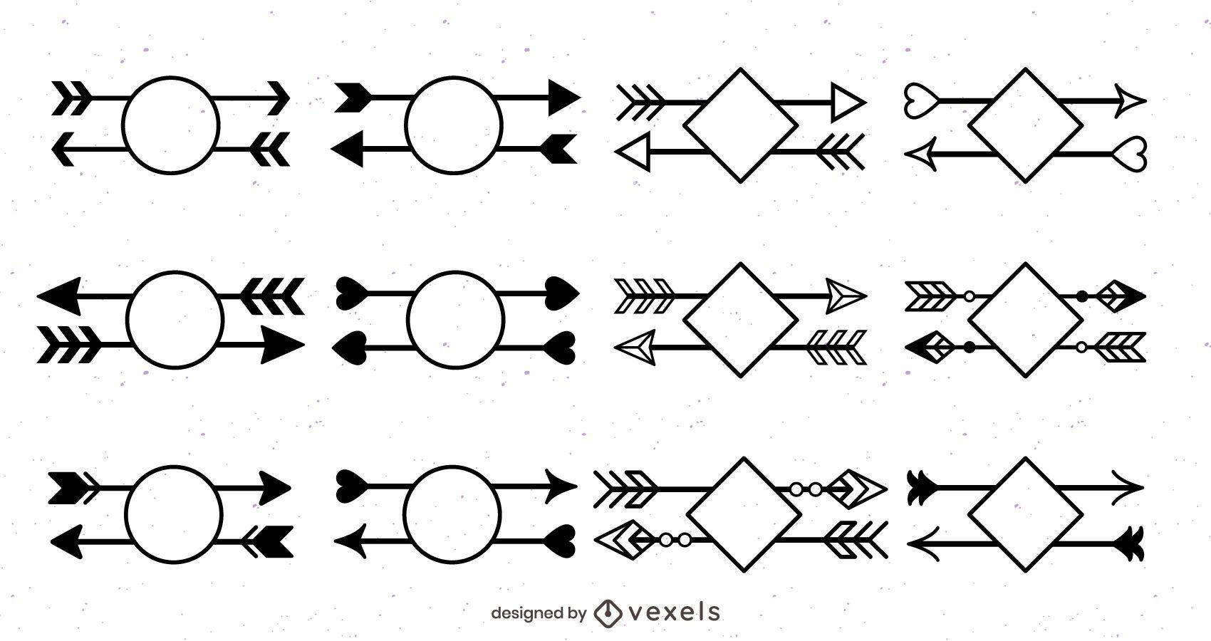Geometric Arrow Design Set