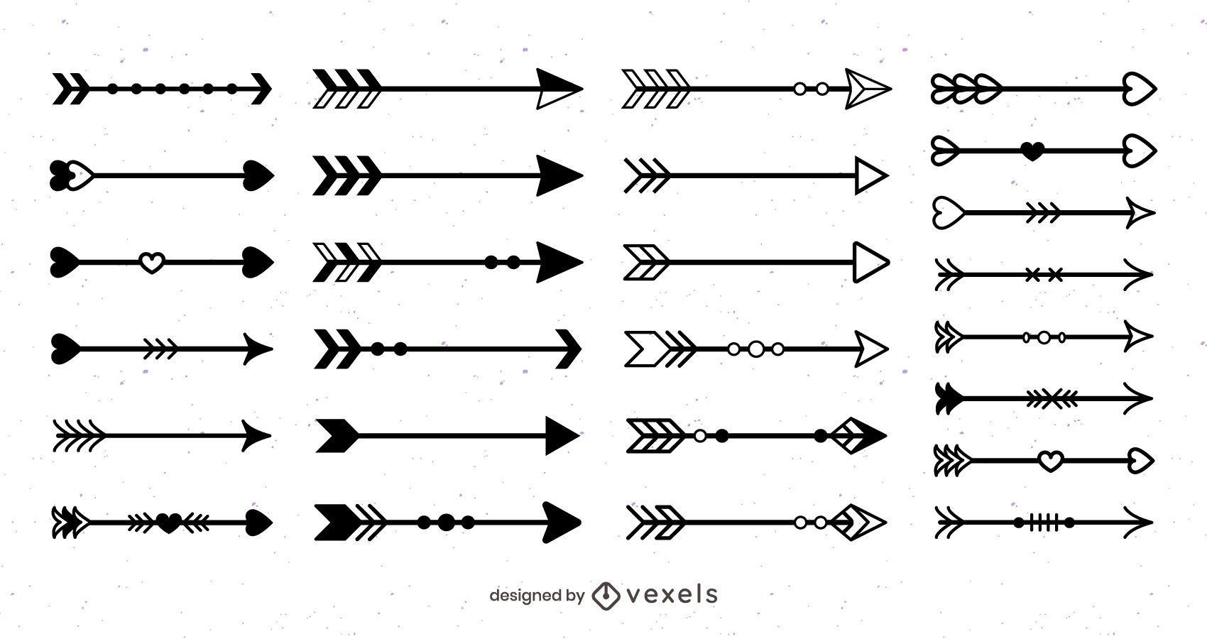 Paquete de diseño de flecha negra