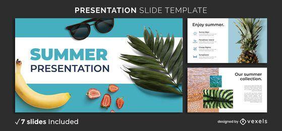 Plantilla de presentación de verano